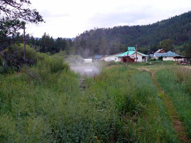 """Termālais ezers (+25) atpūtas kompleksā """"Umhej"""""""